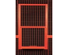HIGH SECURITY WIRE PARTITION SYSTEM: SERVICE WINDOW PANELS